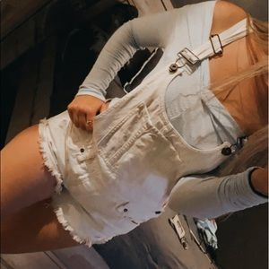 free people white overalls